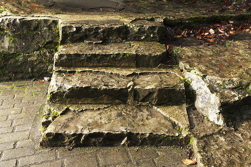 Stairs, Gradually, Natural Stone, Rise, Staircase