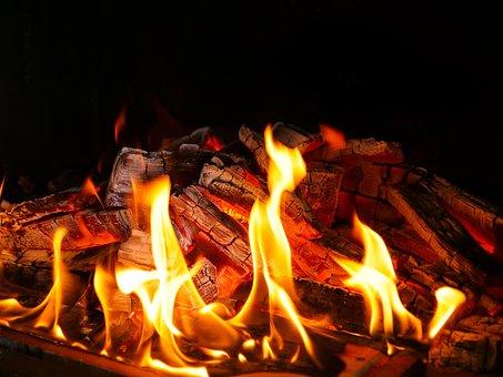 Flare-up, Heat, Fireplace, Joy Fire, Hot, Burn