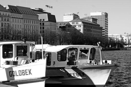Transport System, Horizontal, Barges, Alster