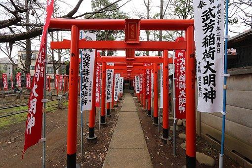 Shinto, Shrine, Torii, Ikebukuro
