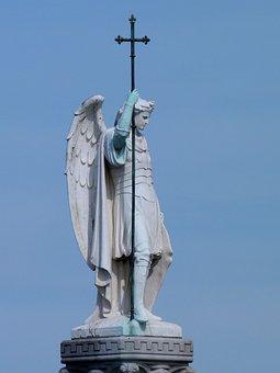 The Statue, Sculpture, Sky, Travel, Monument, Michael