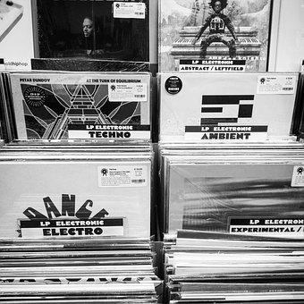 Monochrome, Printing, Vehicle, Discs, Disco, Music