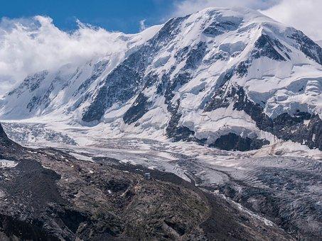 Monterosa, Monte Rosa Hut, Glacier