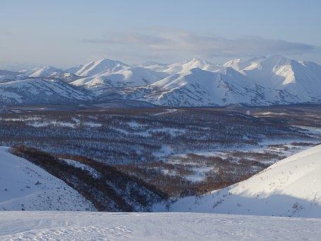 Mountains, Ridge, Valley, Nature, Height, Snow