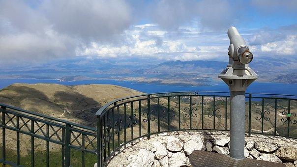 Sky, Outdoors, Travel, Nature, Water, Panoramic, Corfu