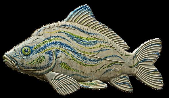 Carp, Fish, Sculpture, Plastic, Figure, Colorful