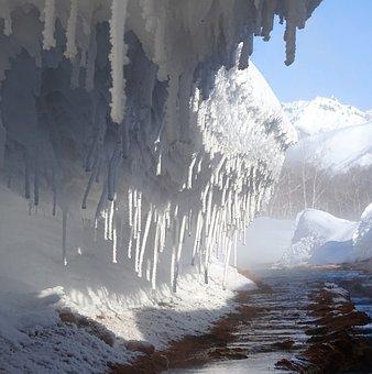 River, Hot Springs, Creek, Winter, Pairs