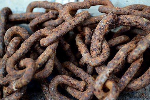 Chain, Rusty, Old, Dirty, Krupnyj Plan, Iron, Power