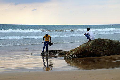 Indian Ocean, Sri Lanka, Characters, Water, Beach