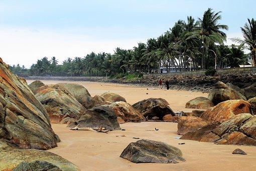 Ocean, Beach, Sri Lanka, Rock, Nature, Water, Holiday