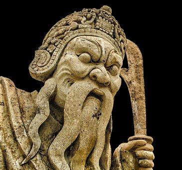 Giant, China, Daemon, Figure, Statue, Artwork, Stone