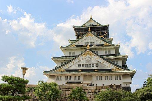 Osaka Castle, Osaka, Structure, Travel, Heaven