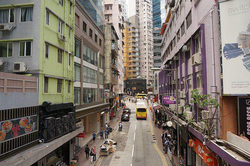 Street, City, Architecture, Travel, Outdoors, Building