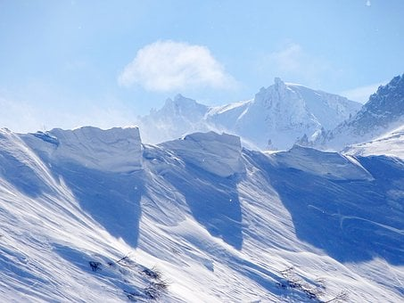 Mountains, Ridge, Volcano, Rocks, Snow Cornice