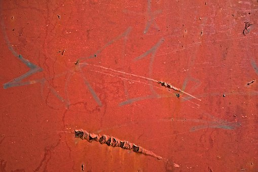 Metal, Steel, Wall, Plate, Rust, Rusted, Paint, Flaking