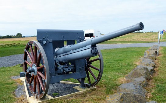 Monument, Normandy, Canon, Gun, Weapon, War, Military