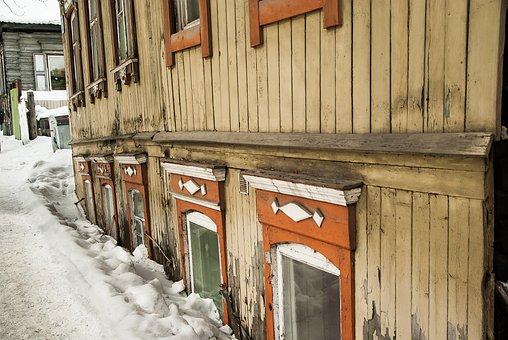 Siberia, Irkutsk, Wood, House