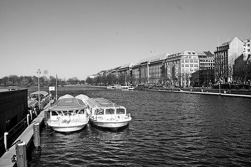 Waters, River, Boot, Transport System, Travel, Alster