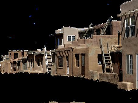 Architecture, Indian, Pueblo, Poor, Native American