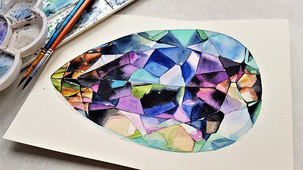 Art, Painting, Watercolor, Paper, Brush, Colors
