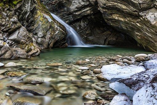 Waters, Nature, River, Waterfall, Austria