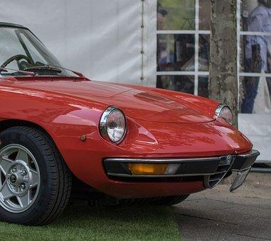 Auto, Alfa Romeo, Spider, Oldtimer, Cabriolet, Classic