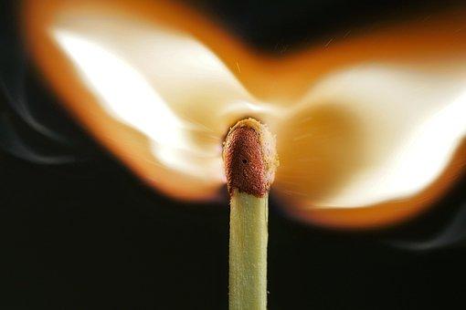 Flare-up, Burn, Darkness, Smoke, Match, Fire, Flame