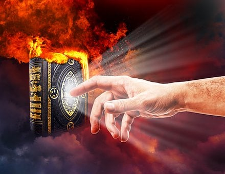 Bible, Flame, Fire, Cloud, Heat, Light, Religion, Faith