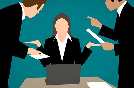 Angry, Businesswoman, Conflict, Complaint, Appeasement
