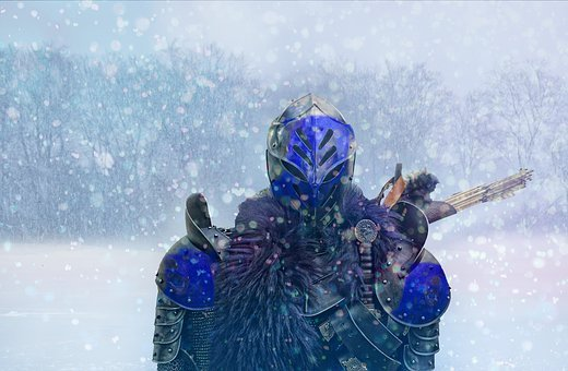 Winter, Snow, Cold, Ice, Frost, Knight, Fantasy, War