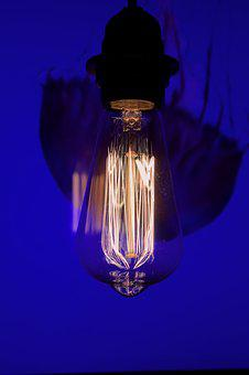 Filament, Vintage Lamp, Close, Disappearing, Tungsten
