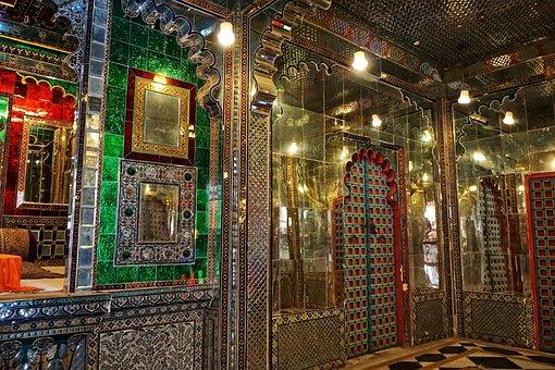 Udaipur, City Palace, India, Travel, Mirror, Within