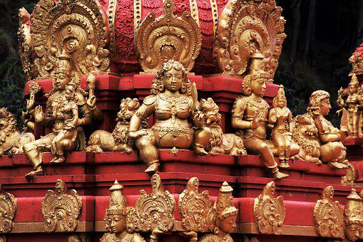 Red, Indian, Religion, Temple, Sculpture, The Statue