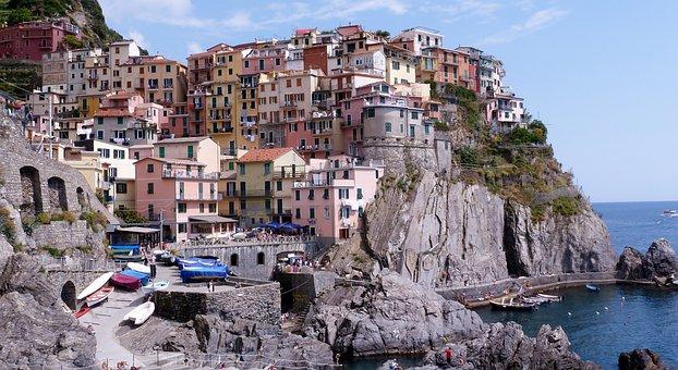 Cinqueterre, Manarola, Liguria, Colorful