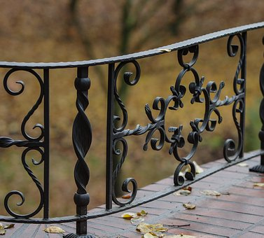 Grid, Metal Construction, Wrought Iron, Form, Fence