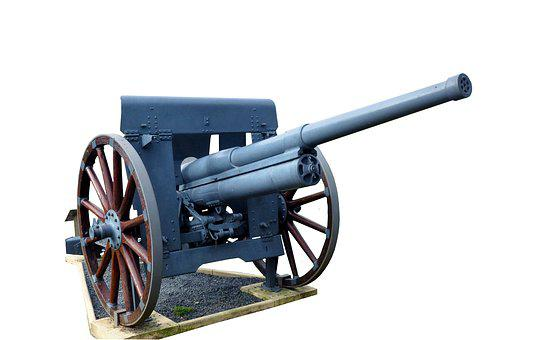 Canon, No Person, Gun, Wheel, Isolated Form, Military