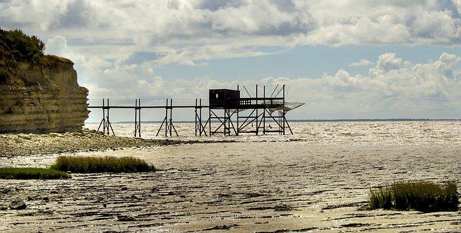 Fishery, Plaice, Ocean, Side, Panoramic, Rock