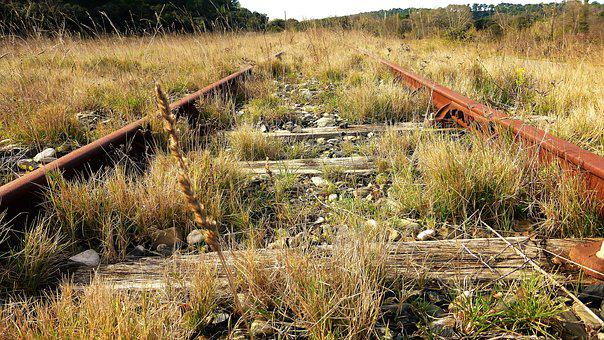 Nature, Outdoor, Landscape, Wood, Rail, Railway