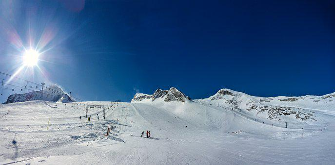 Panorama, Kitzsteinhorn, Snow, Winter, Cold, Mountain