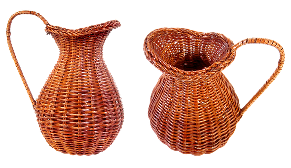 Wicker Jug, Decorative Tableware, Souvenir, Vase