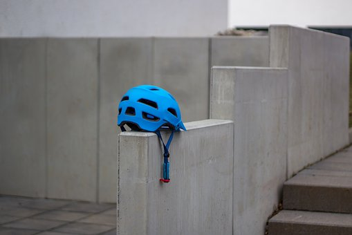 Wall, Helm, Stone, Structure, Texture, Bike, Blue