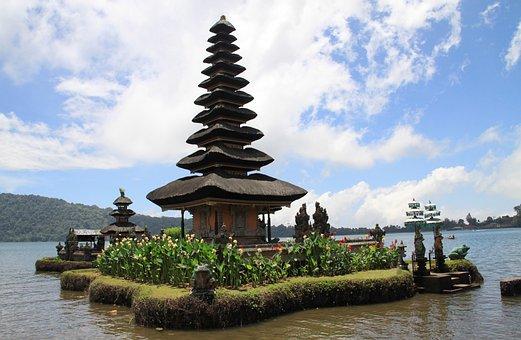 Travel, Water, Lake, Pagoda, Sky, Outdoors, Temple