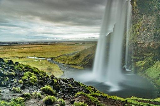Seljalandsfoss, Waterfall, Waters, Nature, River, Wet