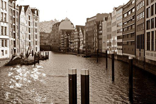 Waters, City, Architecture, Channel