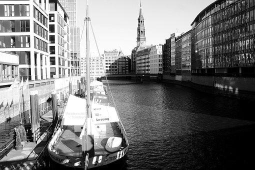 City, River, Waters, Architecture, Transport System