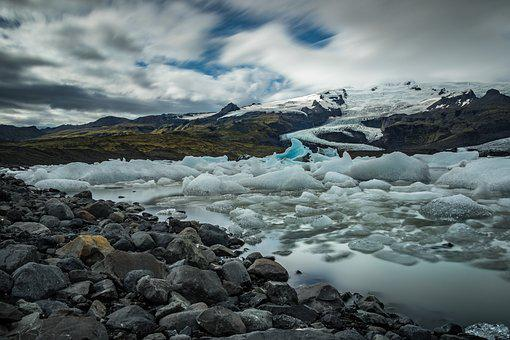 Waters, Landscape, Ice, Glacier, Nature, Frosty