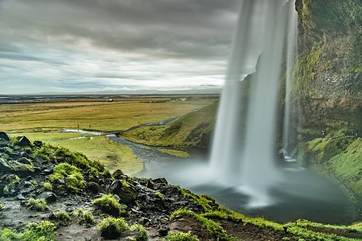 Seljalandsfoss, Waterfall, Waters, Nature, River, Wet