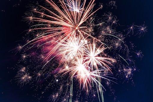 Year, Fireworks, Celebration, Wedding, Brackground