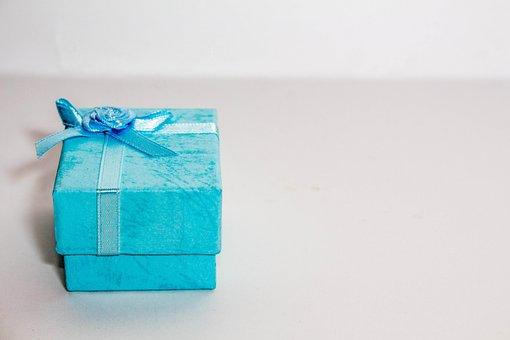 Blue, Christmas, Bow, Birthday, Gift
