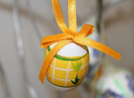 Egg, Decoration, The Ribbon, Ornament